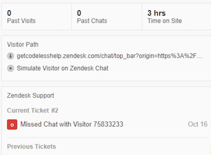 Zendesk chat data