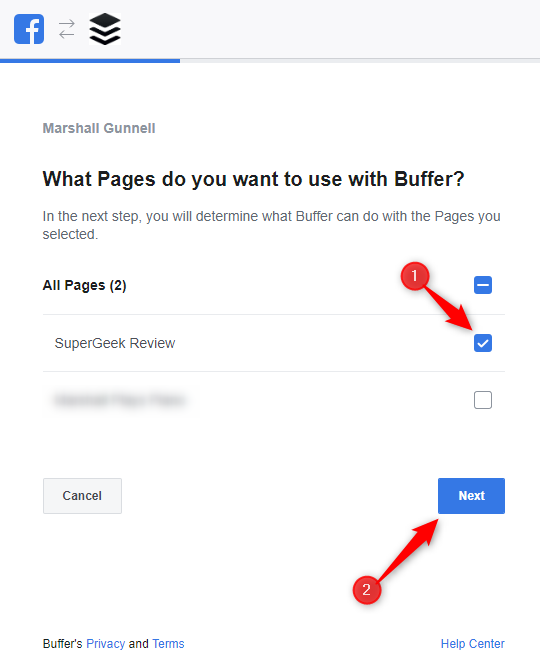 Select pages to include