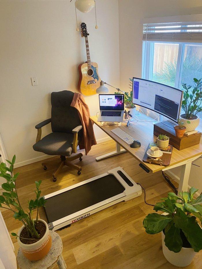 Stacie's treadmill under her desk