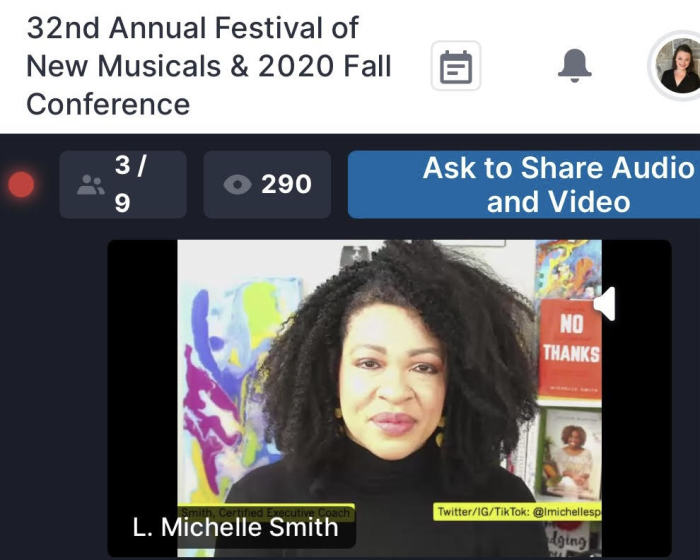 Michelle on a live stream video