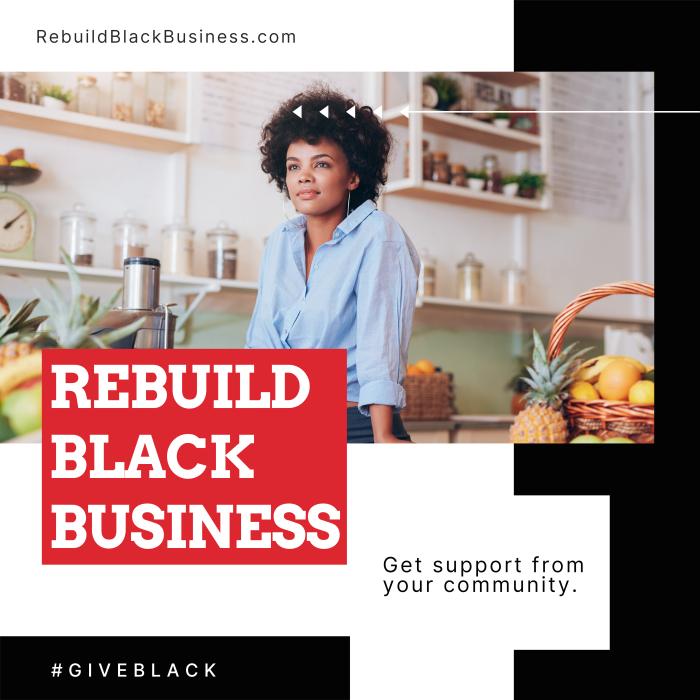 RebuildBlackBusiness.com marketing poster