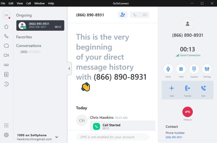 GoToConnect Screenshot