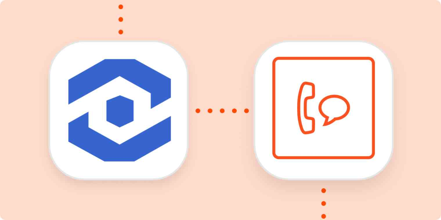 WhatConverts and SMS by Zapier logos on an orange background.