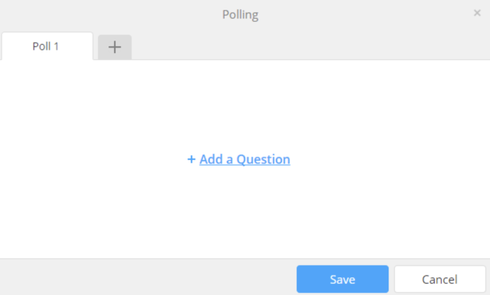 creating a poll in Zoom
