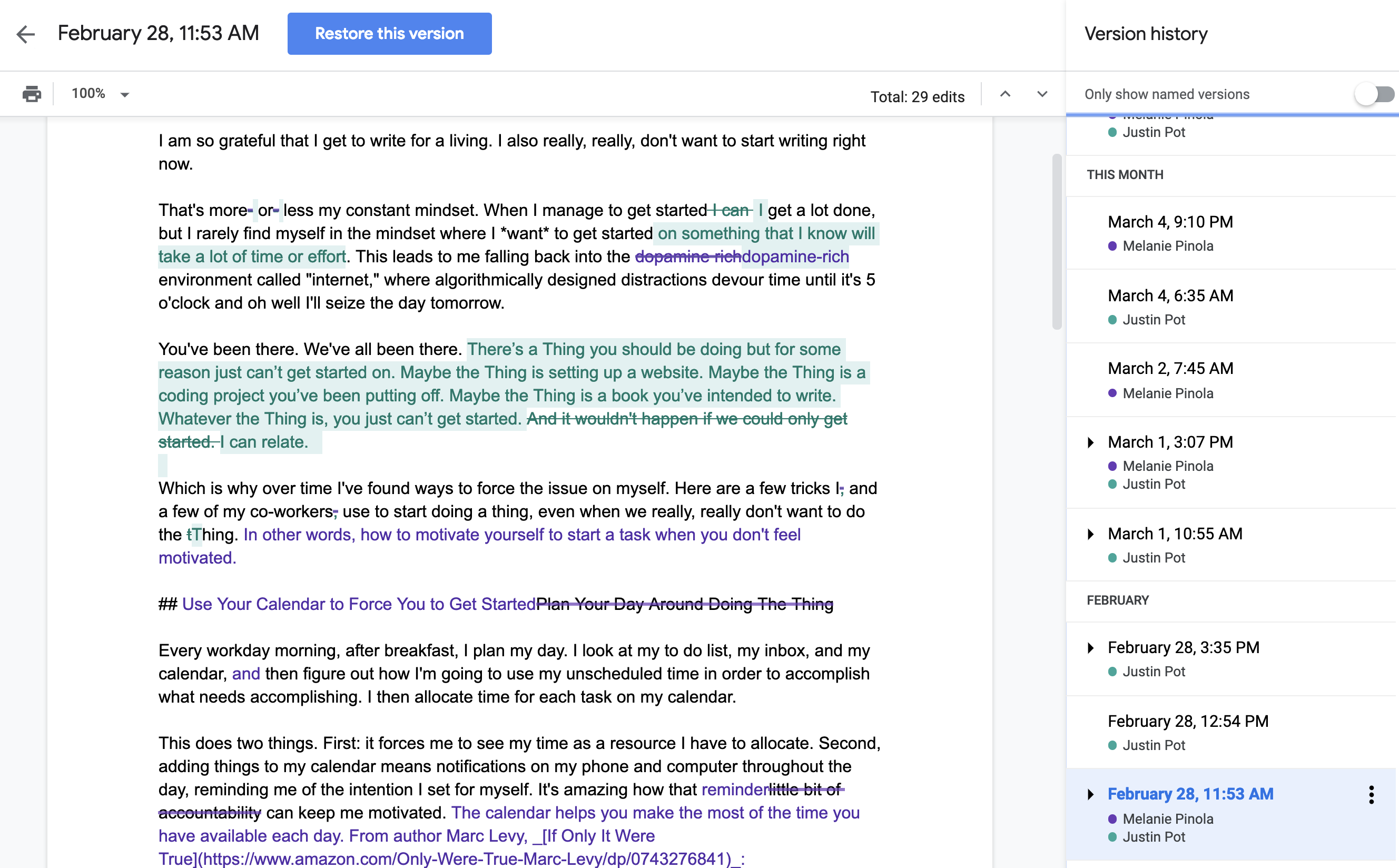 How to Use Revision History in Google Docs