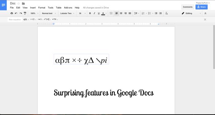 Equation Shortcuts Streamline Math Writing