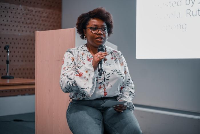 Jaz speaking at one of her workshops