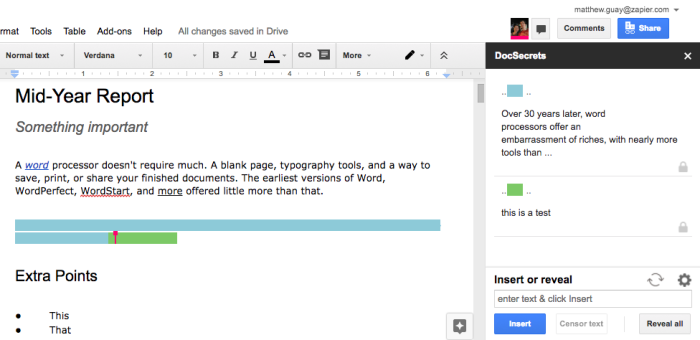 DocSecrets for Google Docs