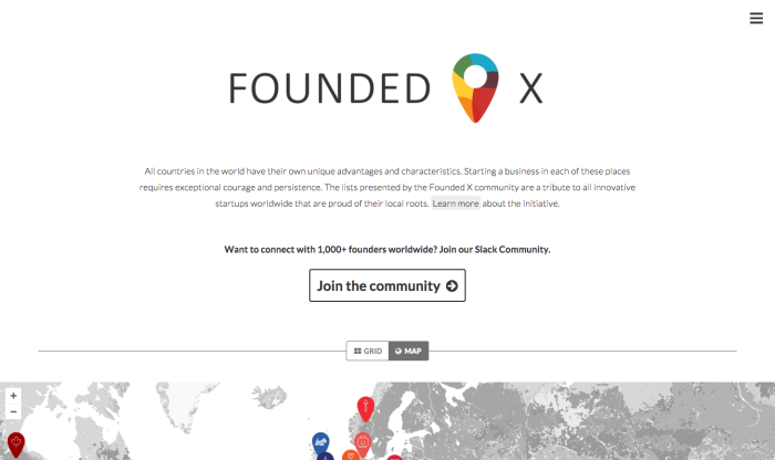 Founded X