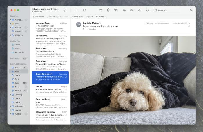 Apple Mail screenshot