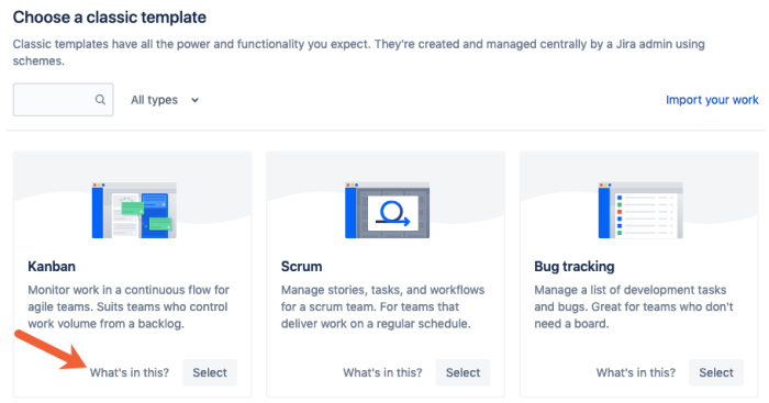 learn more about Jira project templates