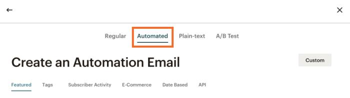 Automated tab
