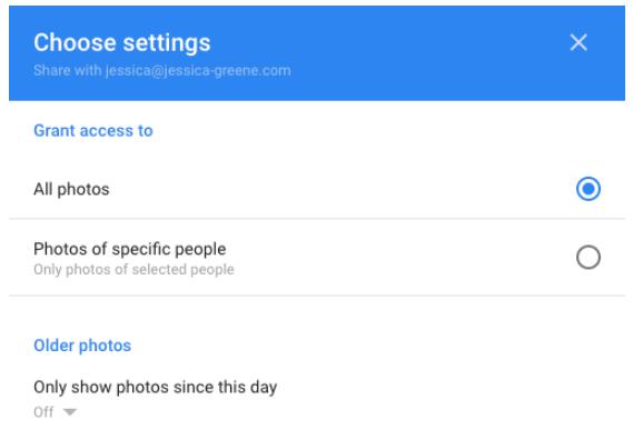 Configuración de Google Fotos