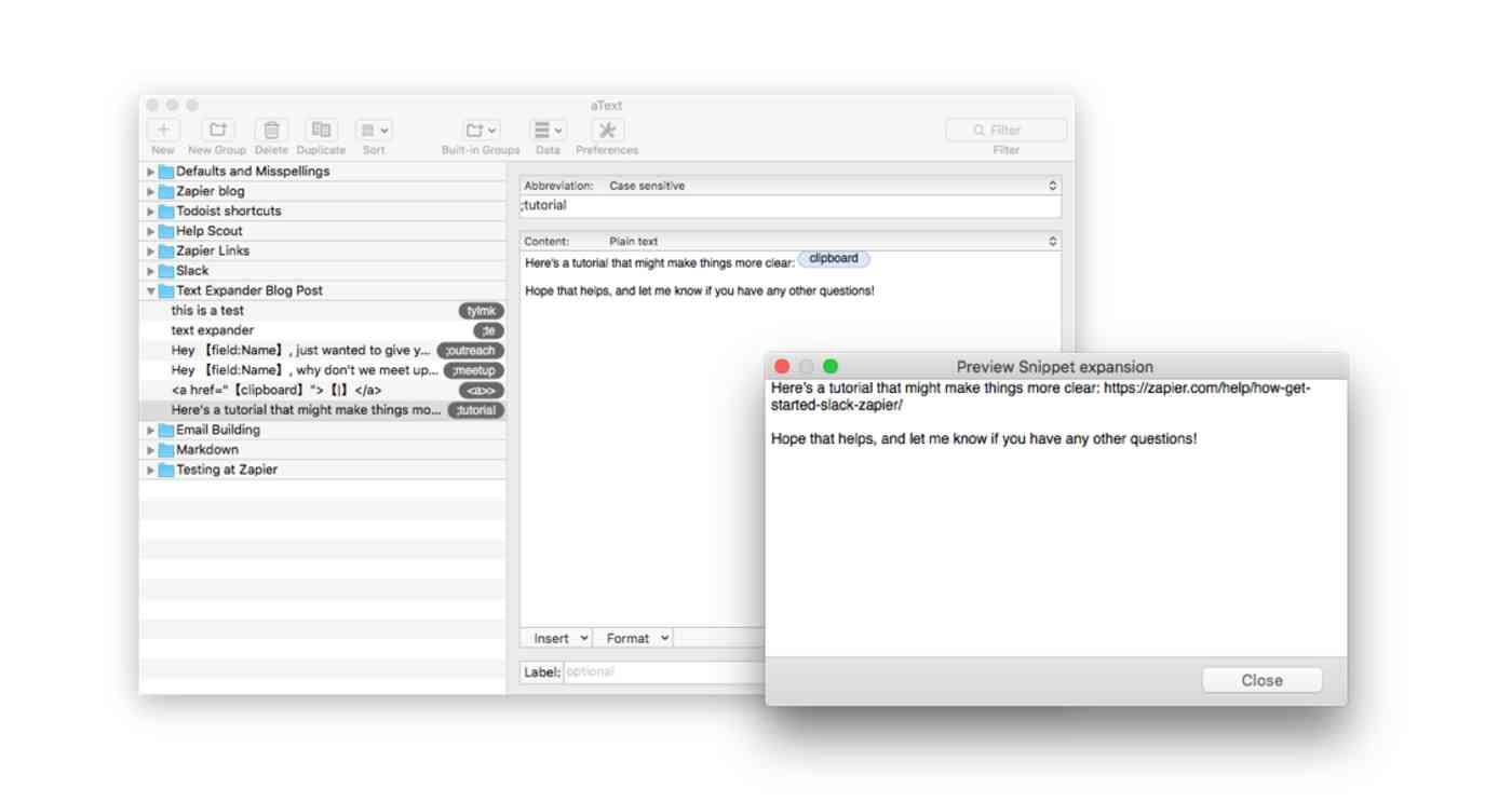 clipboard macro textexpander