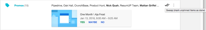 Mark email as done in Google Inbox