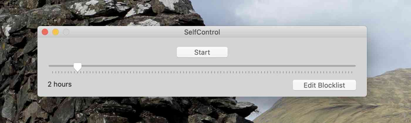 Setting a block list in Self Control