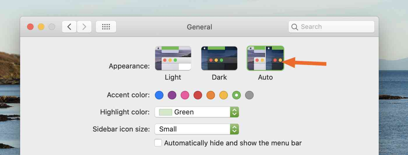 Automatically switch to dark mode at night in macOS