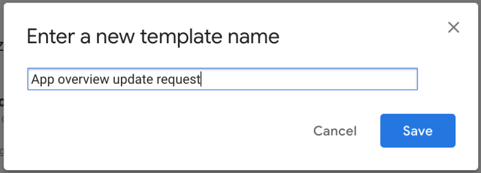 create canned response in Gmail