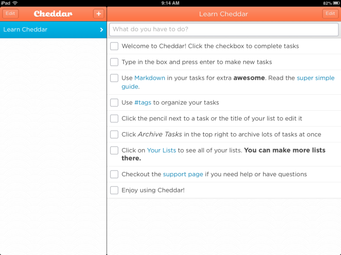Cheddar app