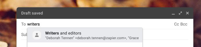 Usar un grupo en Gmail
