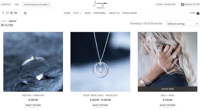 A screenshot of Jonna Jinton's website