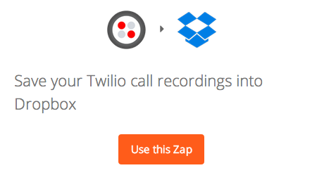 Save your Twilio call recordings into Dropbox