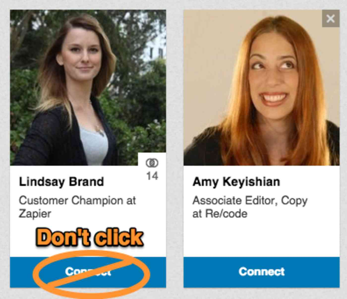 LinkedIn not personalized invite