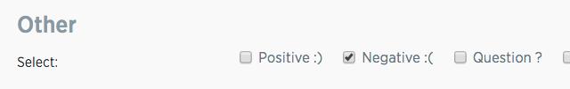 negative Twitter sentiment screenshot