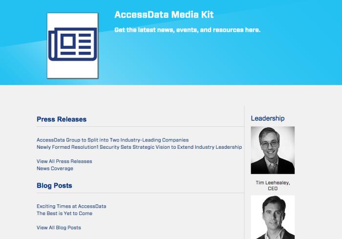 AccessData media kit