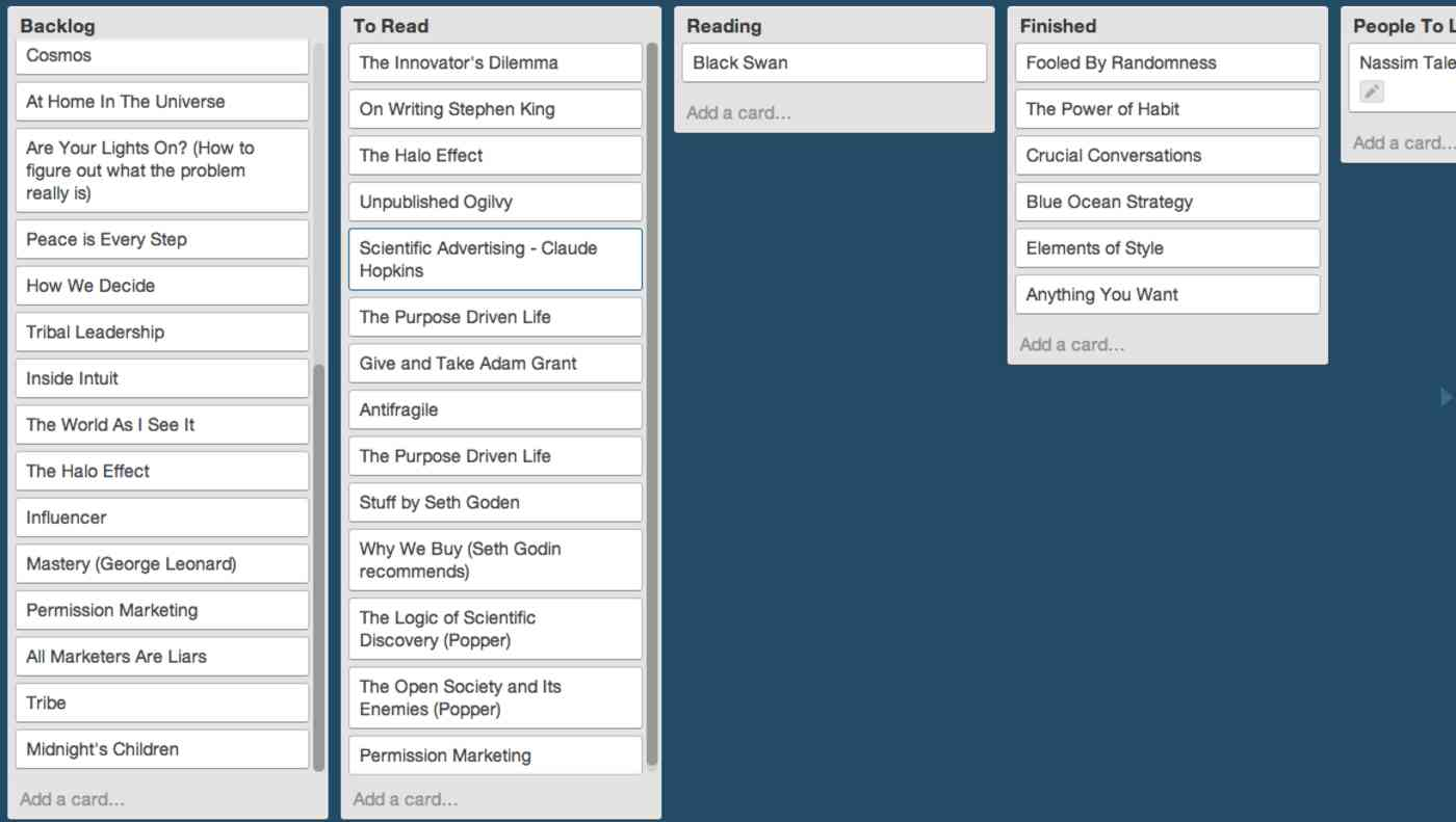 Trello reading list