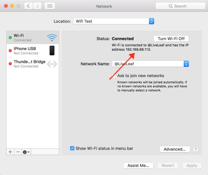 network IP Address