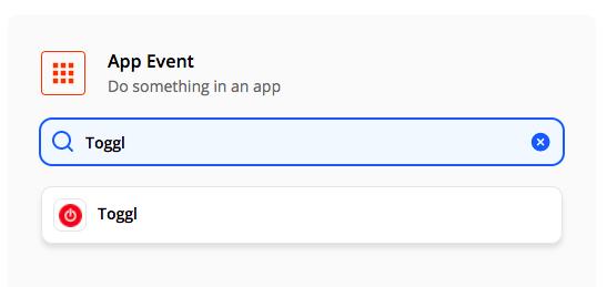 App event: Toggl