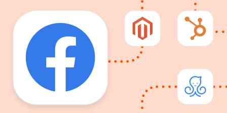 The Facebook, Magento, HubSpot, and ManyChat logos
