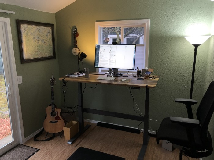 A work-from-home office