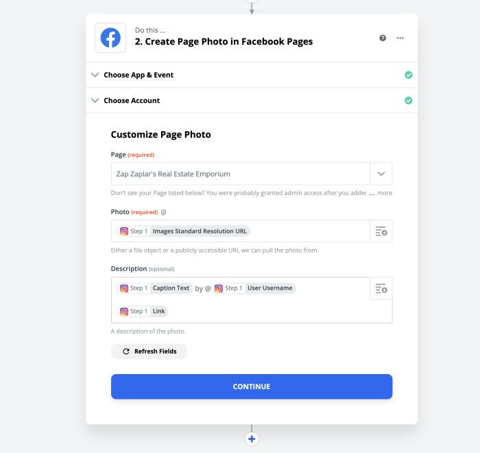 Customizing your Facebook Pages post