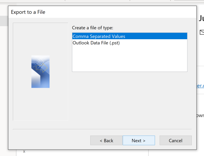 Exporting to CSV