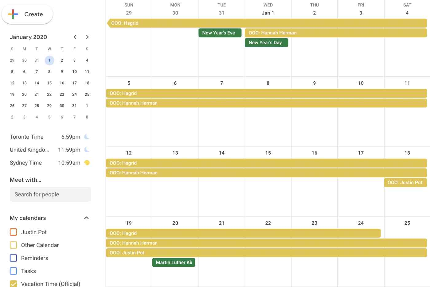 Google Calendar events from Google Forms