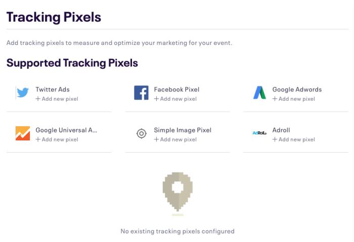 Add tracking pixels