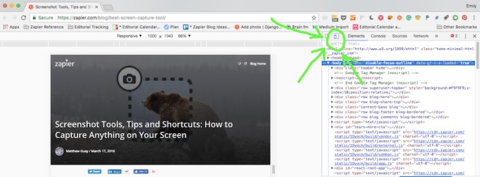 Captura de pantalla de página completa en Chrome