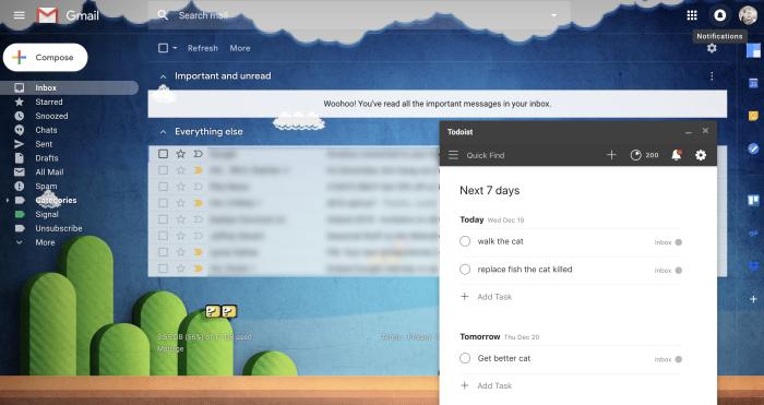 Todoist for Gmail screenshot