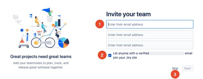 invite team members to Jira