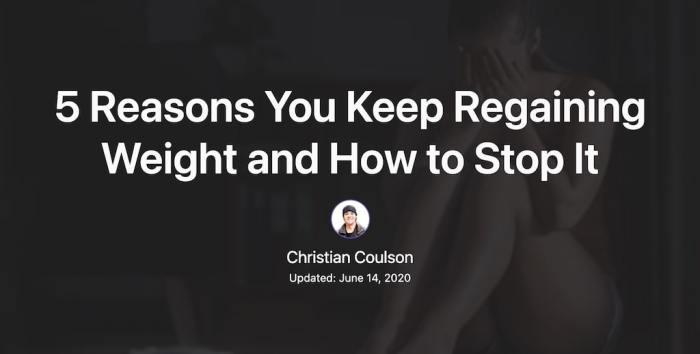 A screenshot of a blog post from Christian's blog