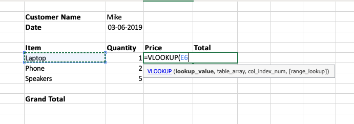 Selecting the lookup value
