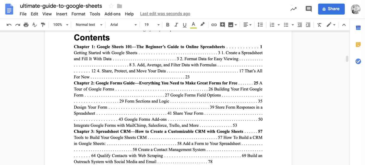 Google Drive PDF converted