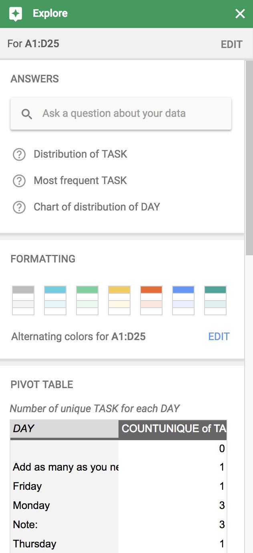 Explorar Hojas de cálculo de Google