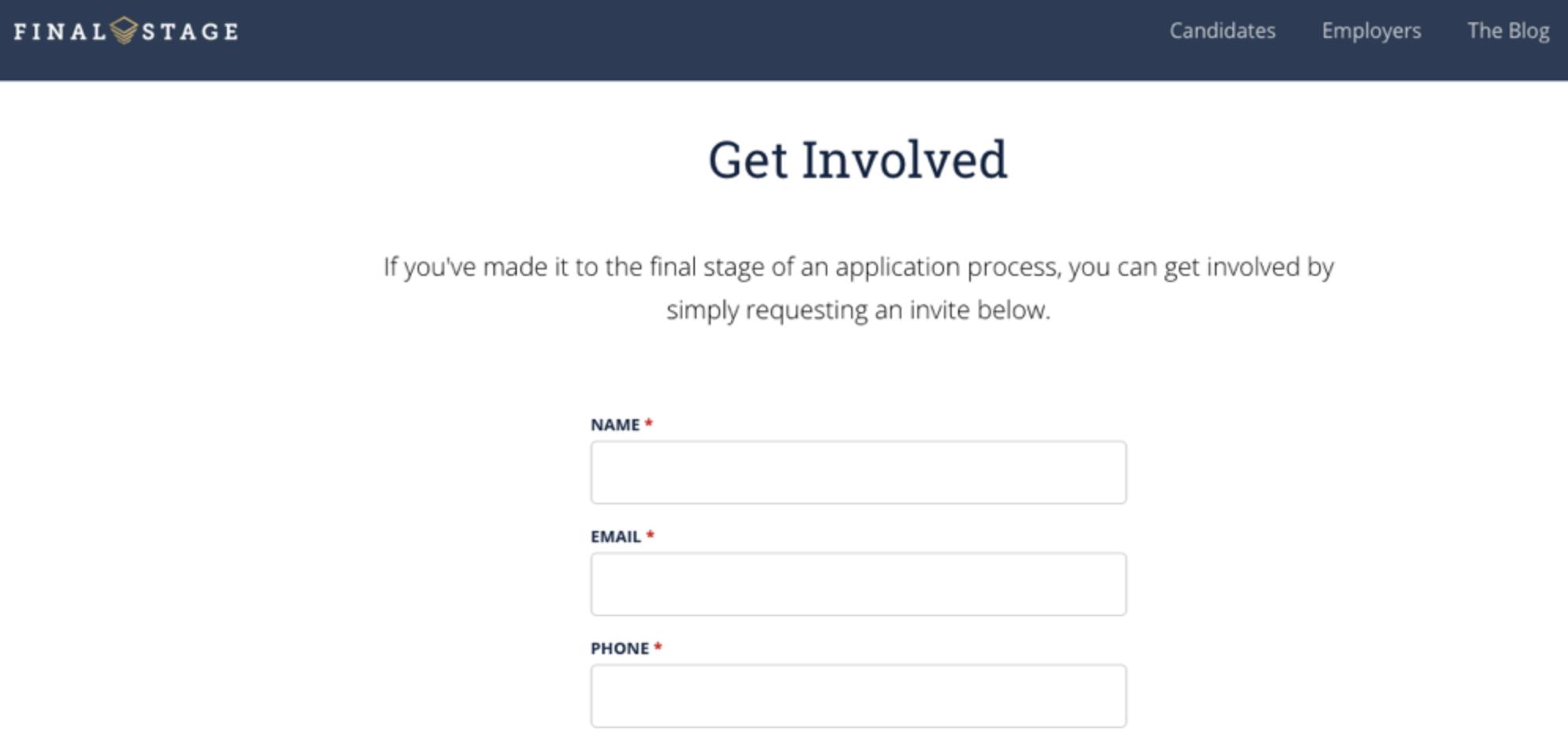 Final Stage invite request