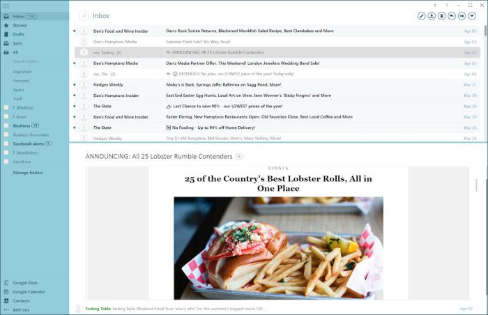 Mailbird email app