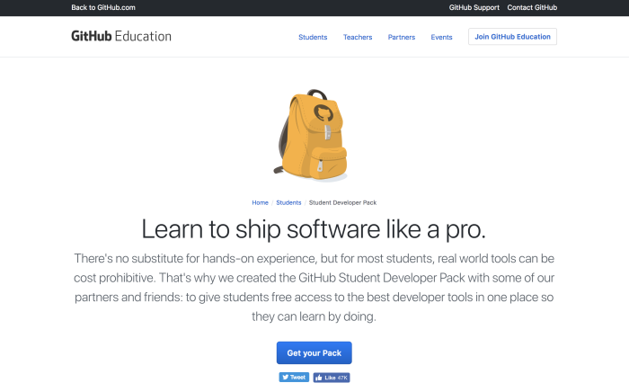 Student discounts for developer tools