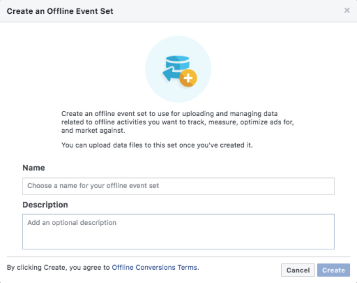 Create offline event data set