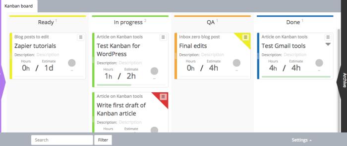 Kanban for WordPress screenshot